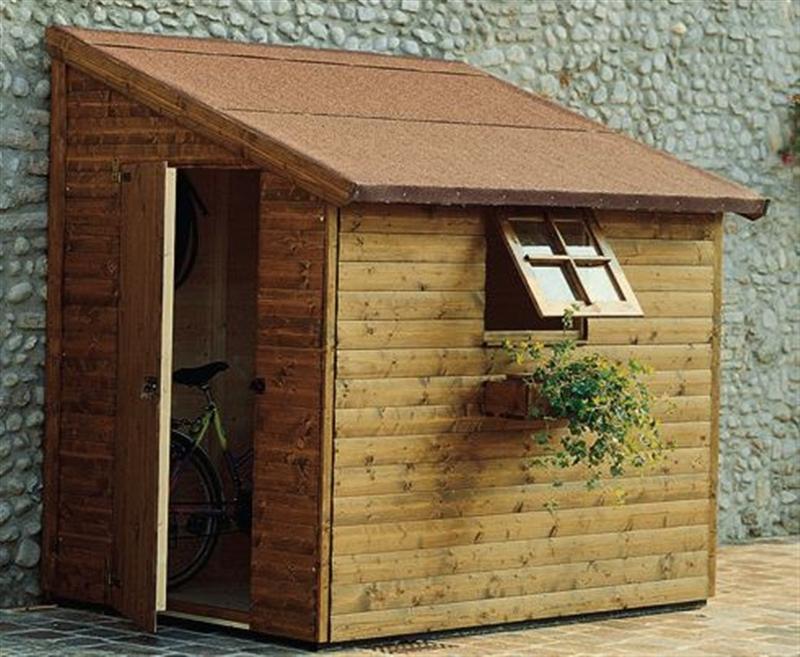 Casetta in legno porta attrezzi da lavoro mod wall 180x150 - Casette porta attrezzi da giardino ...