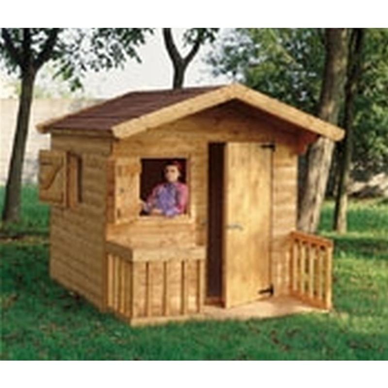 Casetta in legno per bimbi4236 casetta da giardino in - Ringhiera in legno per giardino ...