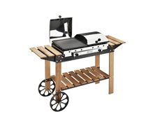 Barbecue a Gas Ghisa Gas Legno Inox Hover